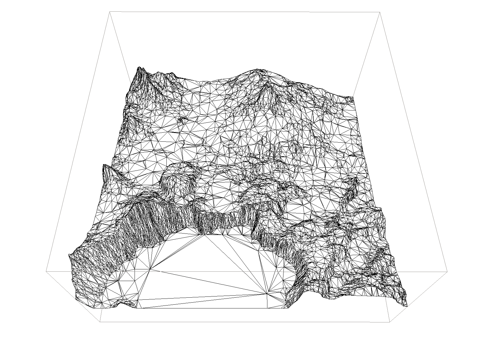 Visualizing large scale terrain with open source tools