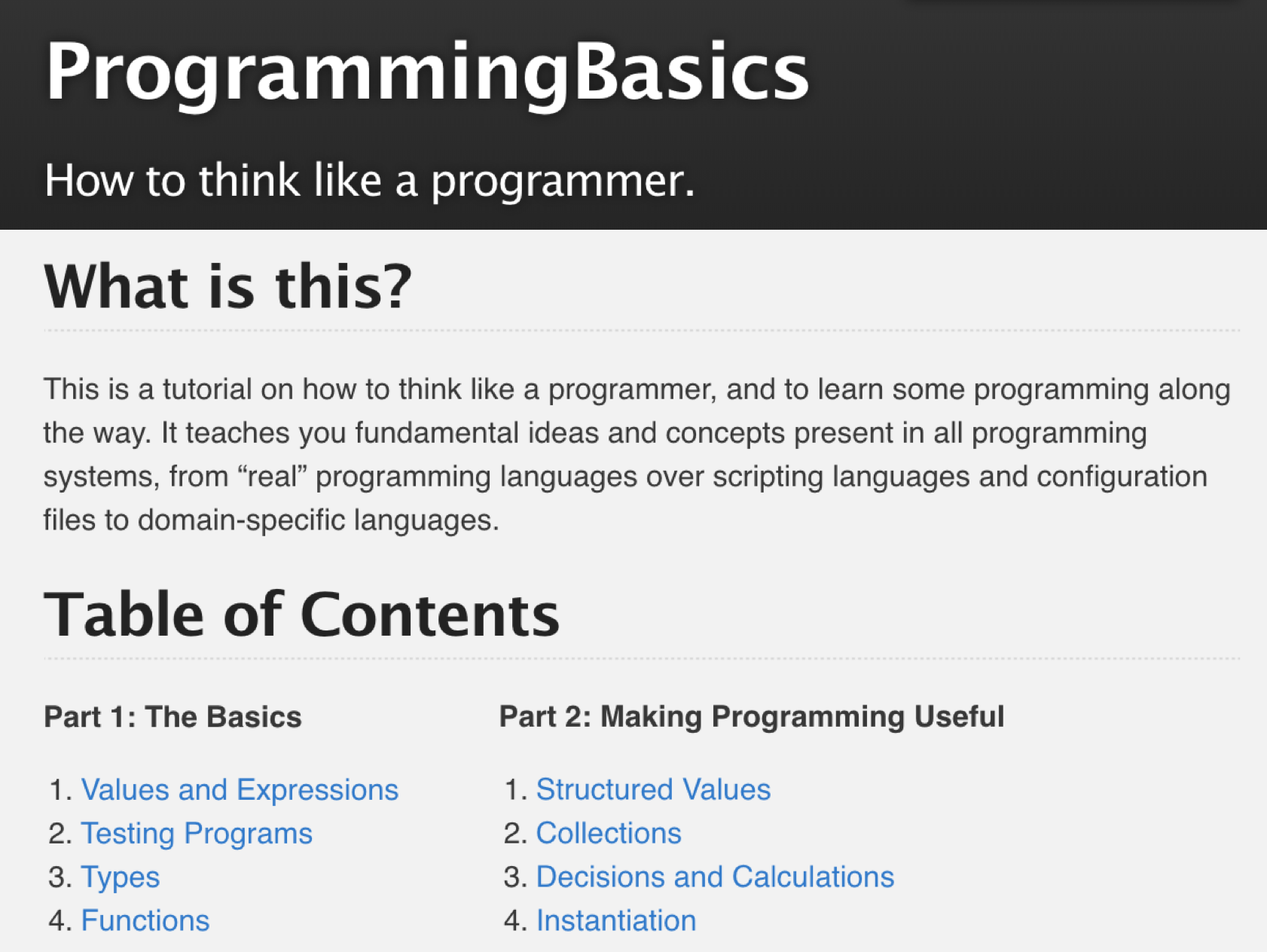 Teaching the Basics of Programming to Domain Experts