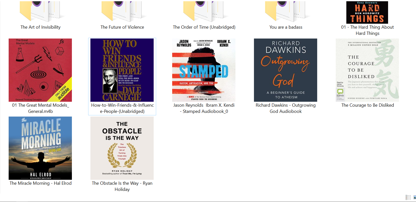 Audiobook collection.