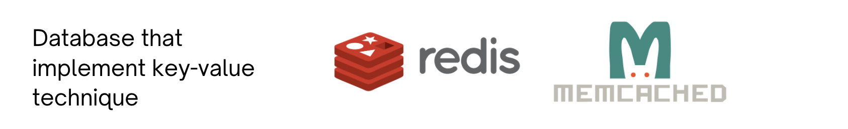 Redis and Memcached are examples of databases that use this technique.