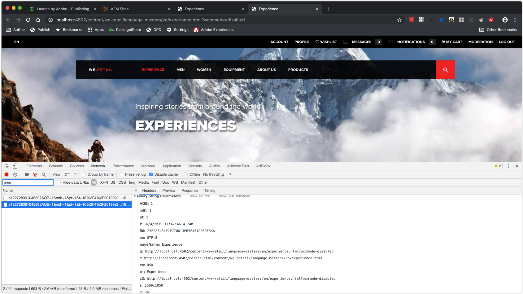 Adobe Experience Manager Integration with Adobe Analytics