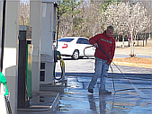 Commercial Pressure washing Hampton gas stations in Georgia