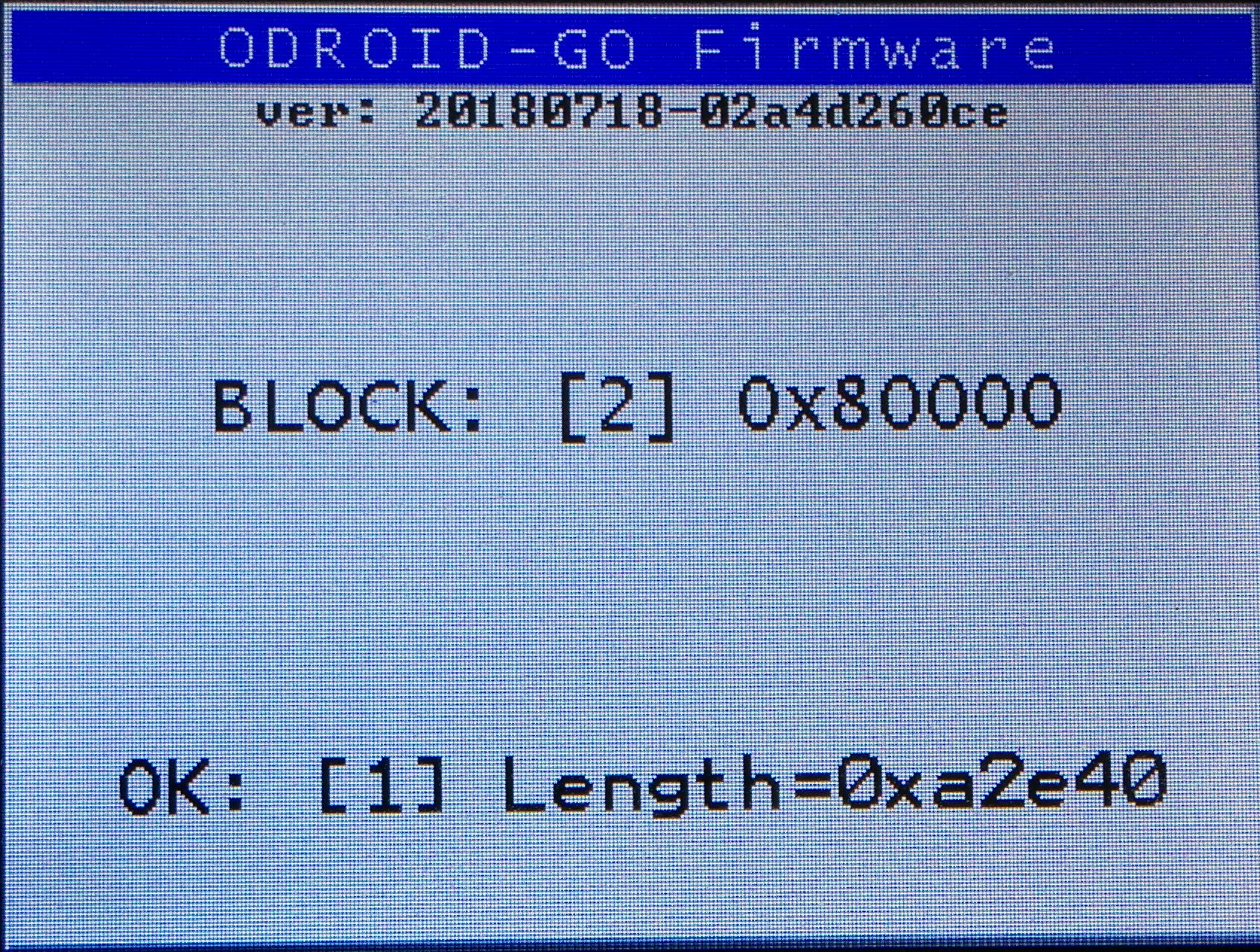 Upgrading the firmware of the Odroid Go  - Roberto Rosario