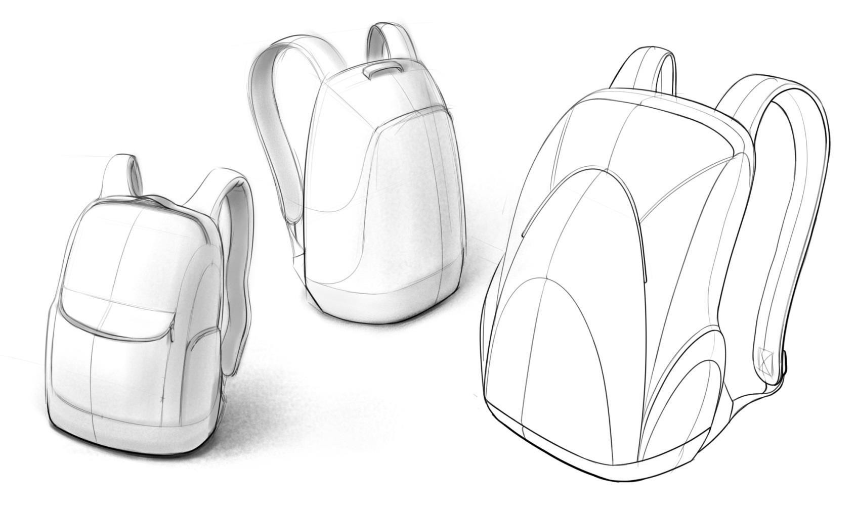 Product Design Sketching Four Part Process Line Art