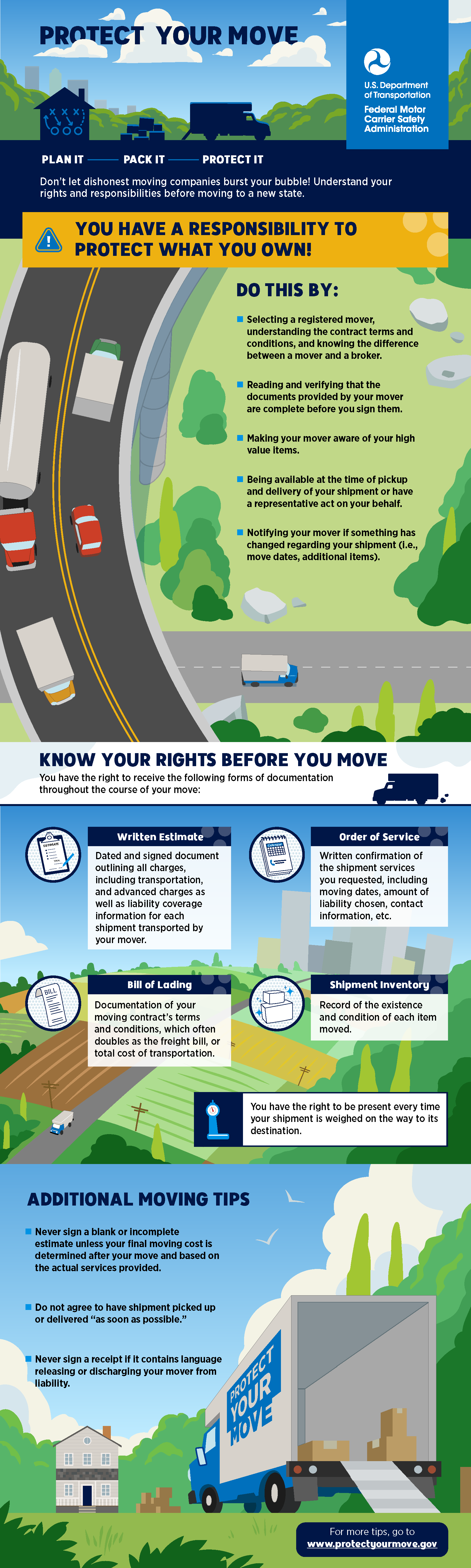 Protect Your Move Brochure, visit www.ProtectYourMove.gov