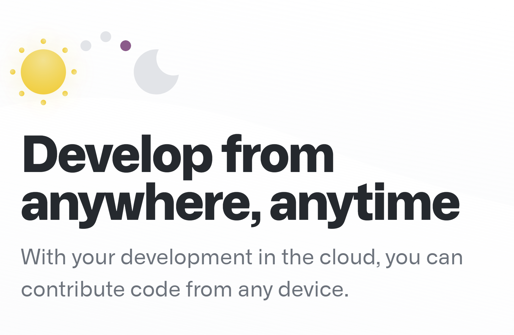 Picture of Github Codespace feature — Develop from anywhere, anytime