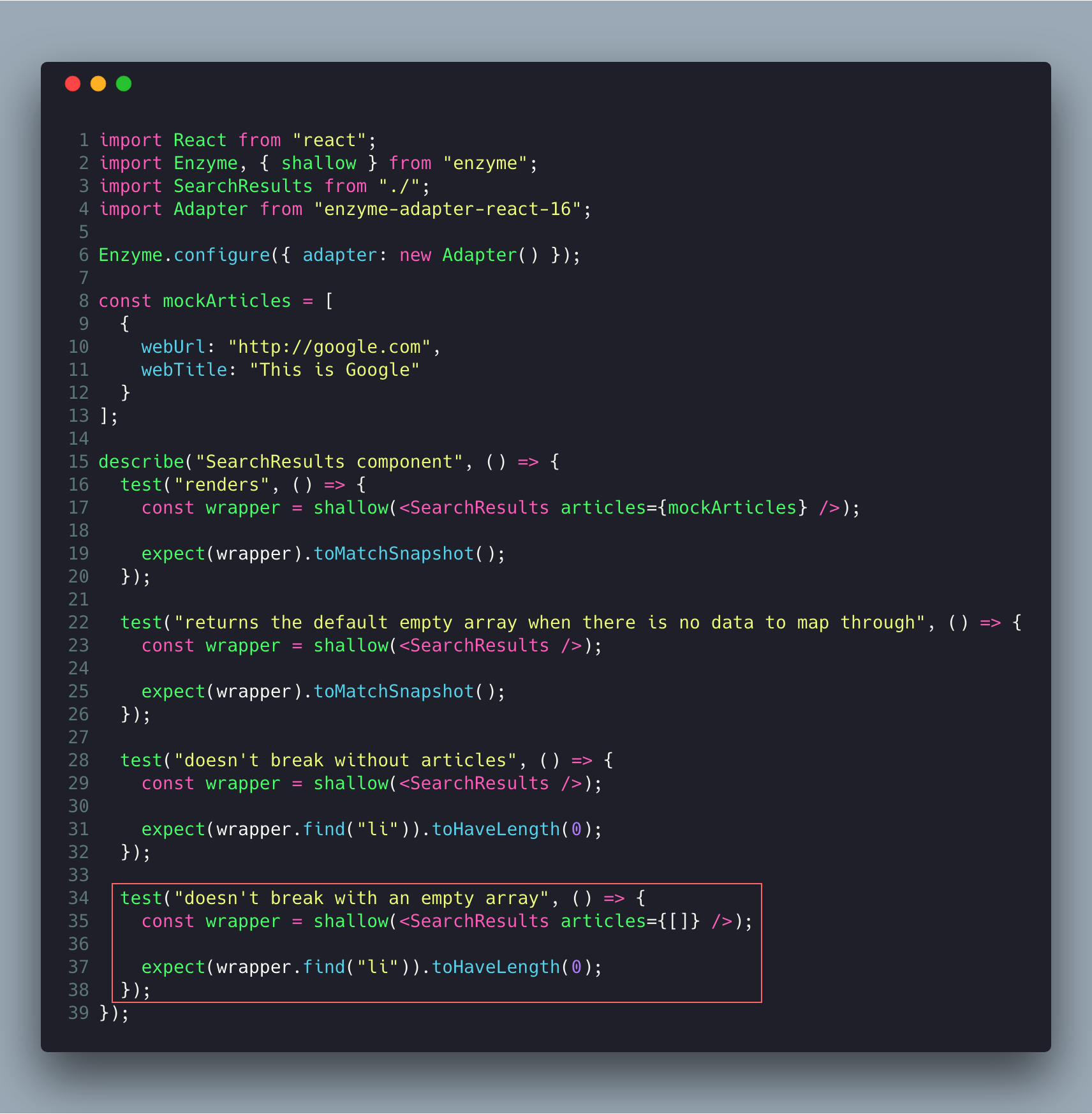 How to Test React Components using Jest and Enzyme - Bits