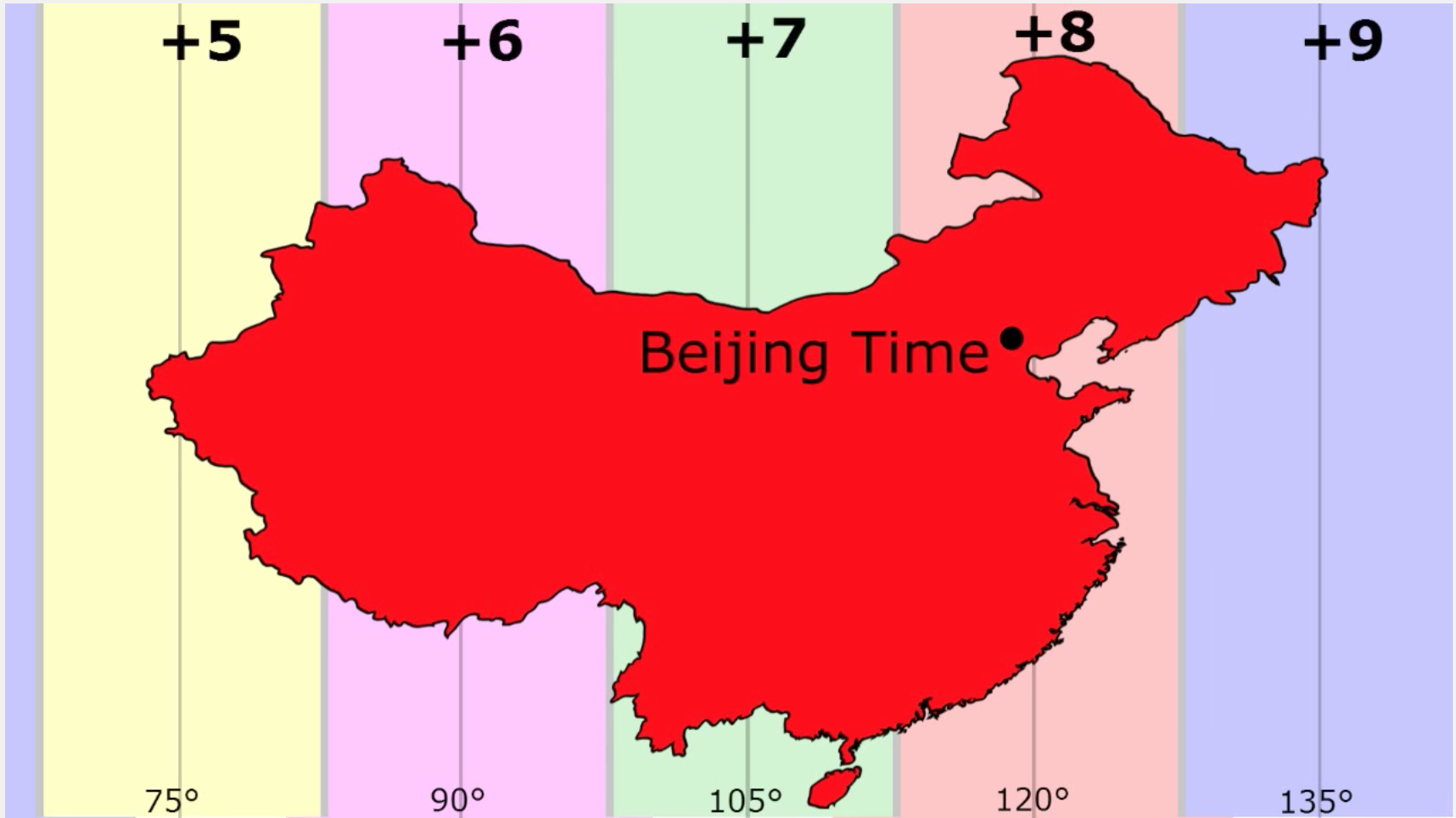 time zones in china map Time Zones We Think Of Time Zones As Simple By Davis Treybig Five Guys Facts Medium
