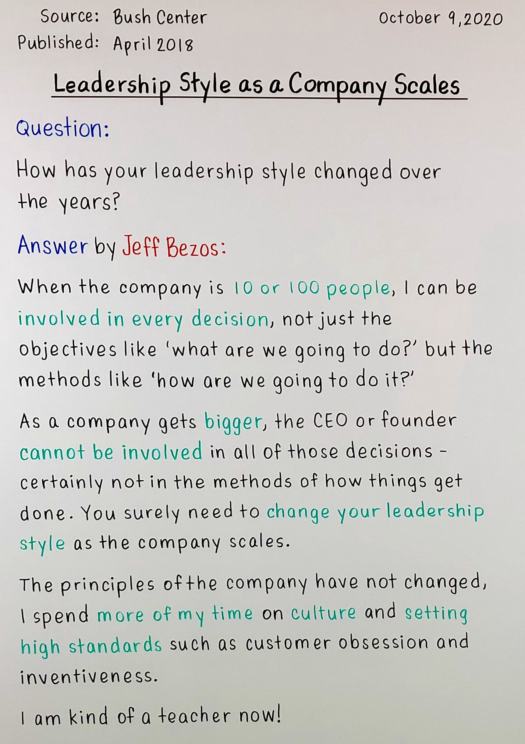 Leadership Style As A Company Scales By Danny Sheridan Fact Of The Day 1 Medium