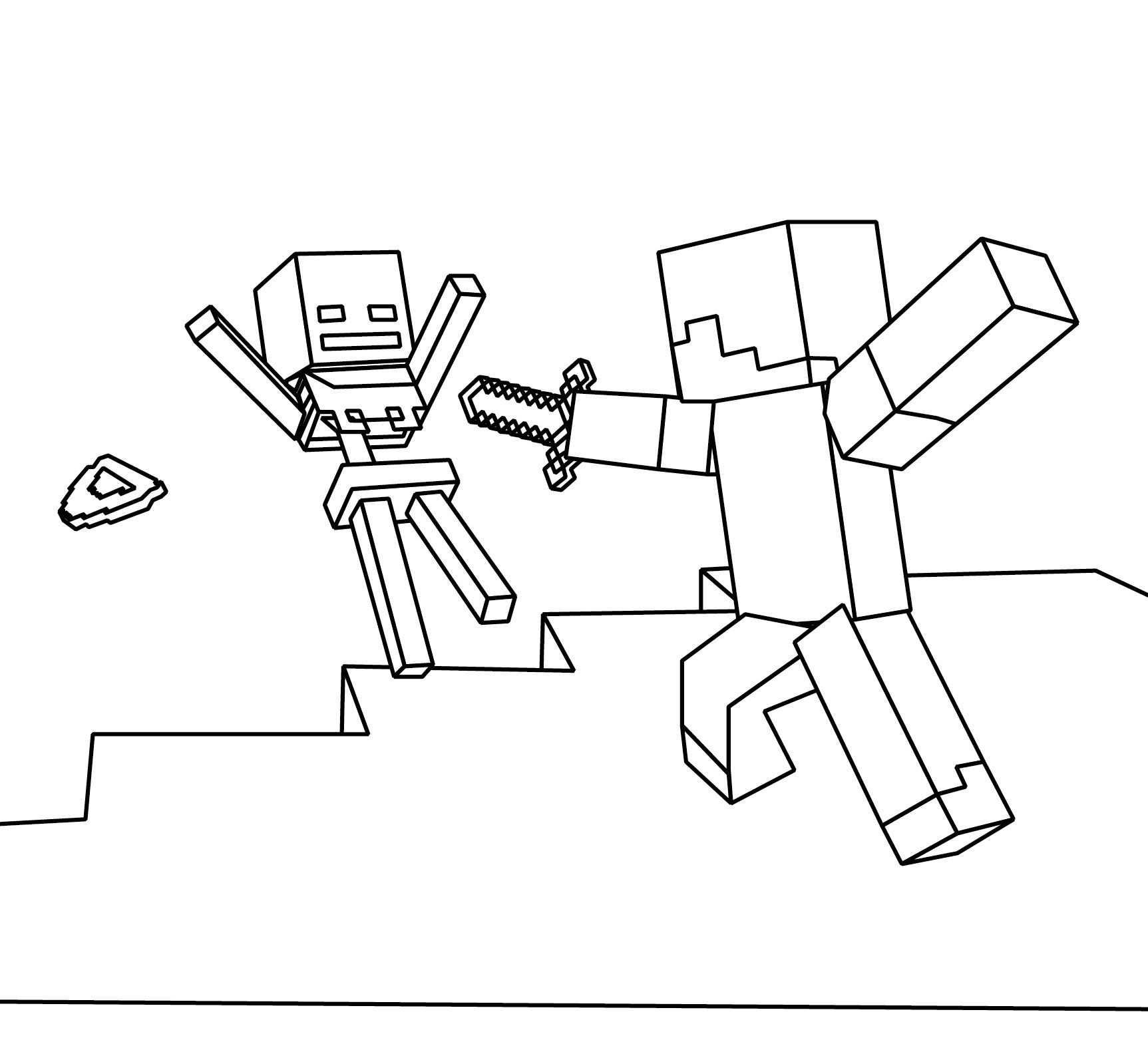 Minecraft Coloring Pages Free Printable Coloring Pages At