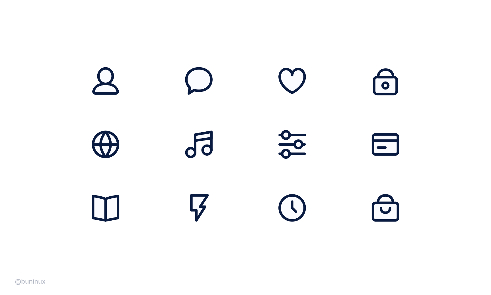 Consistent icons