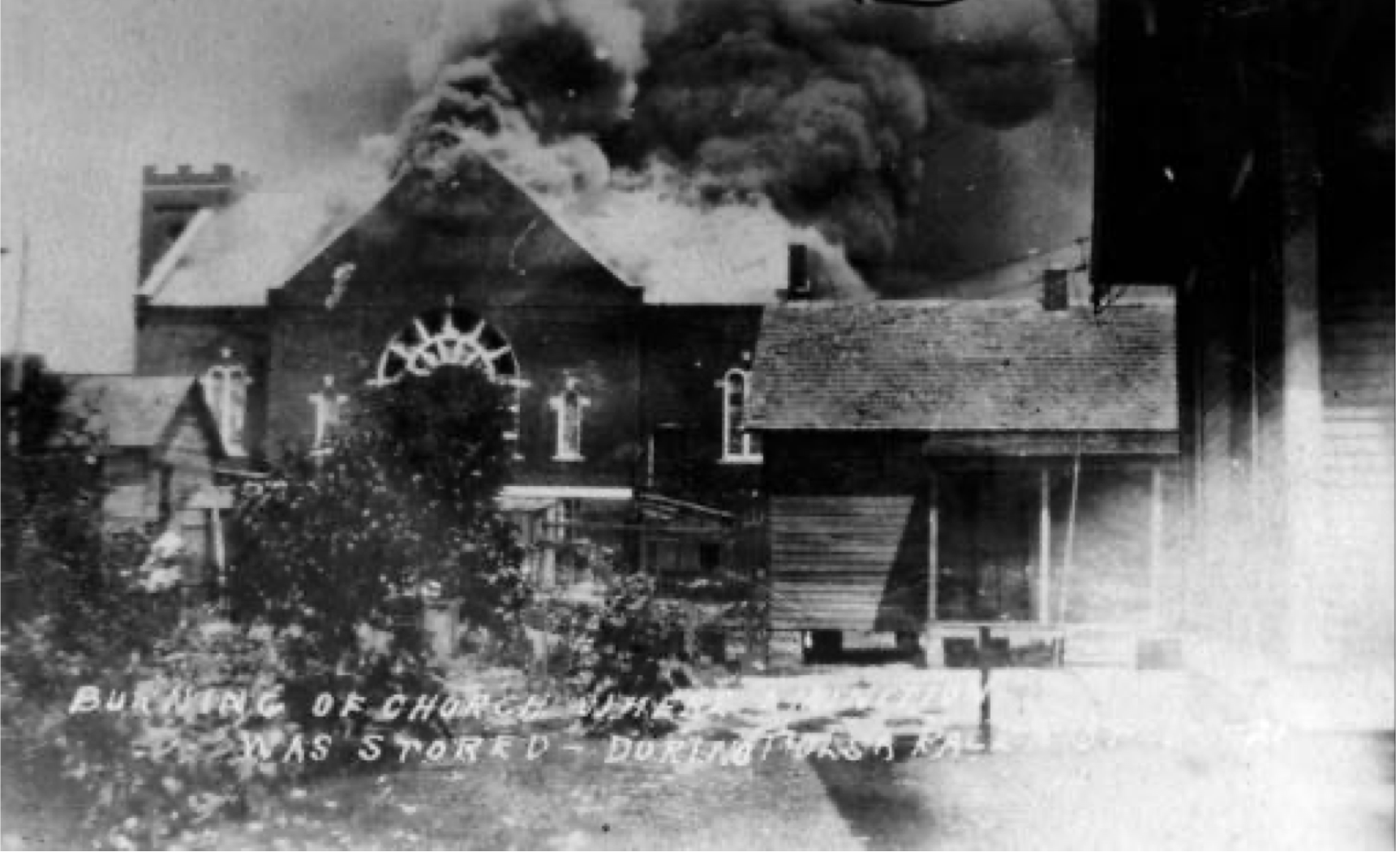Dedicated only weeks before the riot, the Mount Zion Baptist Church was a great source of pride for many black Tulsans. But after a prolonged battle, the white rioters burned it—as well as more than a half dozen other African American churches—to the ground
