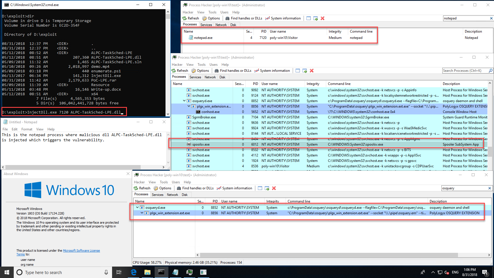 Windows 10 EoP — osquery and PolyLogyx to the rescue