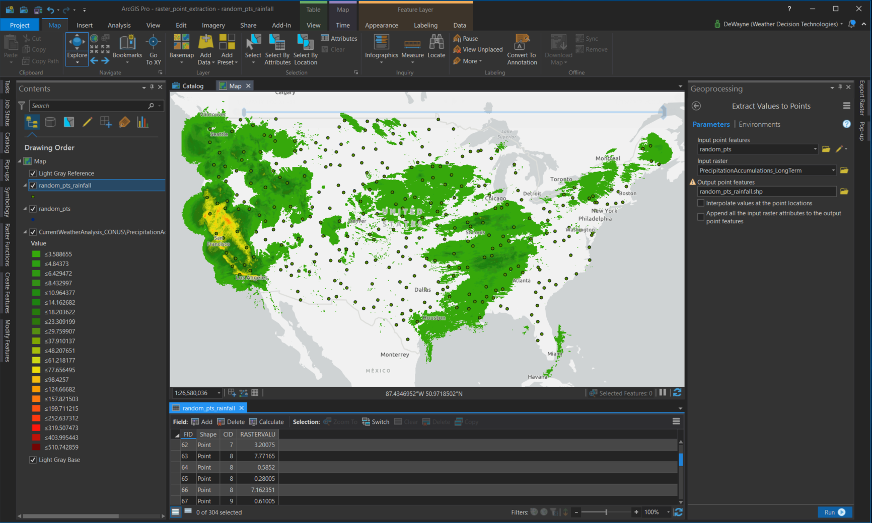 Extracting Point Data From Image Services in ArcGIS Pro