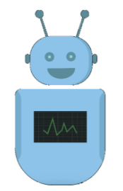 Stock image of a happy robot.