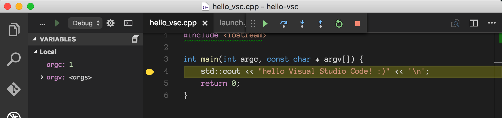 C++ Development using Visual Studio Code, CMake and LLDB