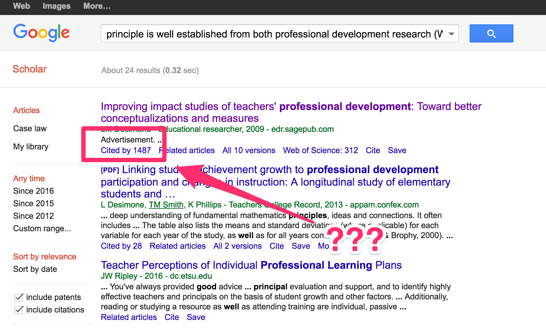 Is Google Putting Advertising On Google Scholar W Ian O