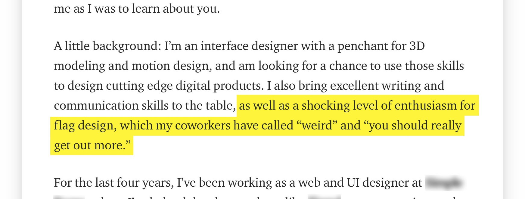 Six Takeaways From A Successful Ux Cover Letter By Andrew Millen Ux Collective