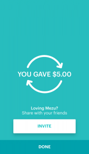 You Gave $5.00
