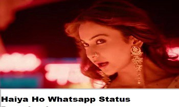 Haiya Ho Whatsapp Status Video Download Marjaavaan Tulsi