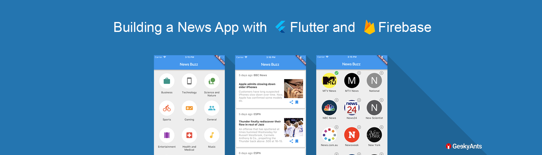 Flutter hands on: Building a News App - The GeekyAnts Blog