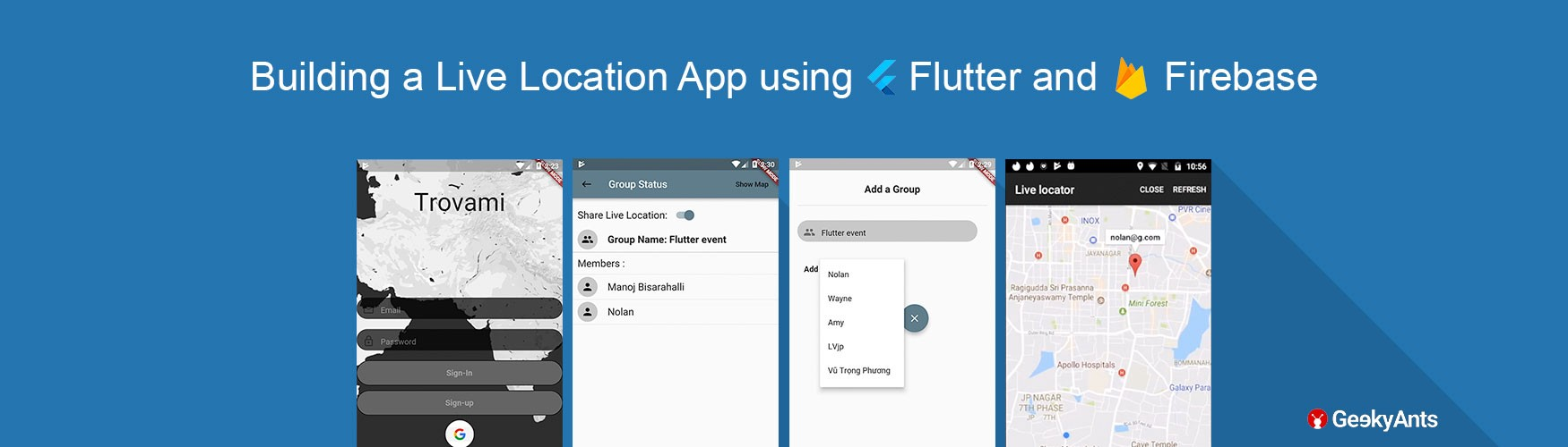 Flutter hands-on: Building a Live Location Sharing App