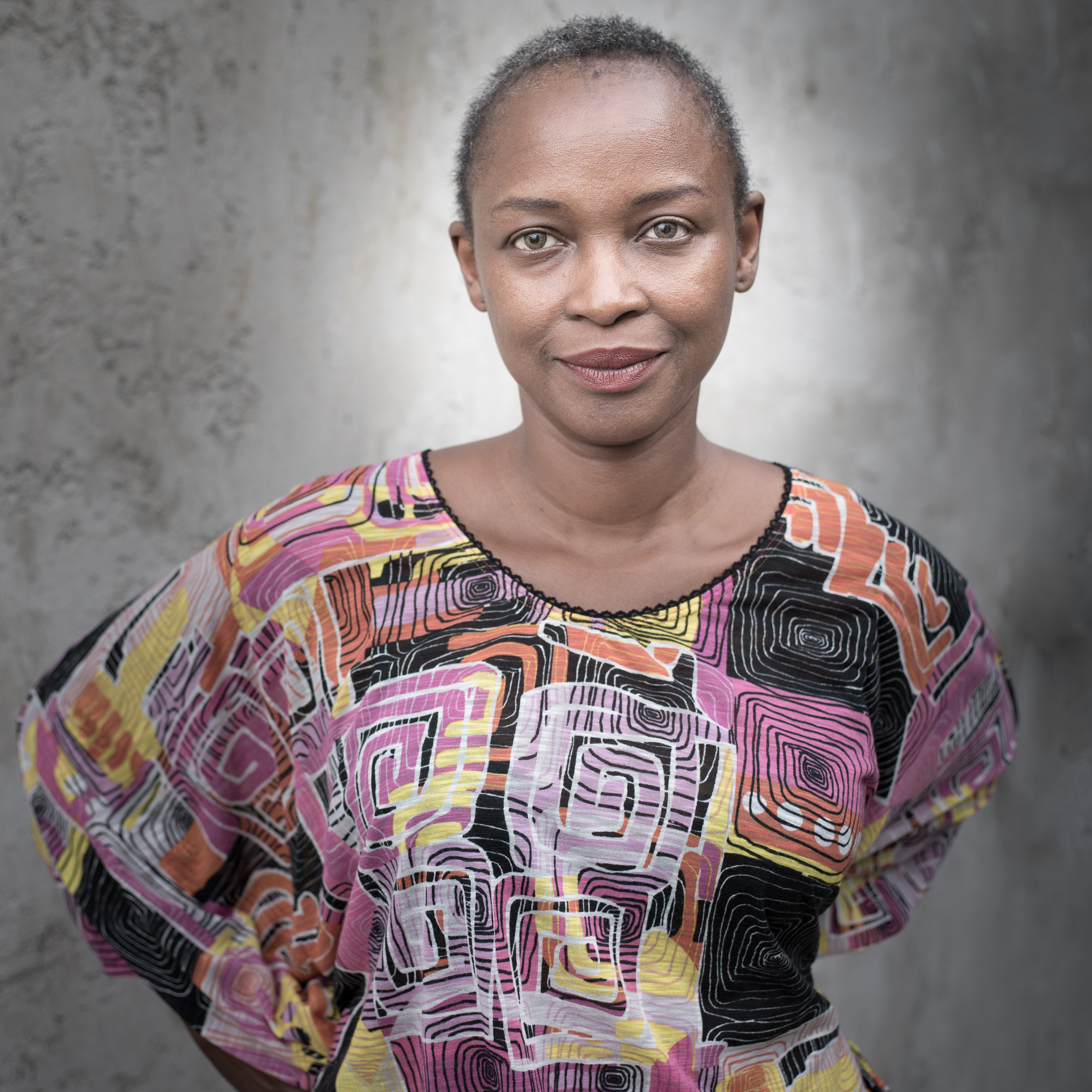 A portrait photograph of Koyo Kouoh, Executive Director and Chief Curator at Zeitz MOCAA
