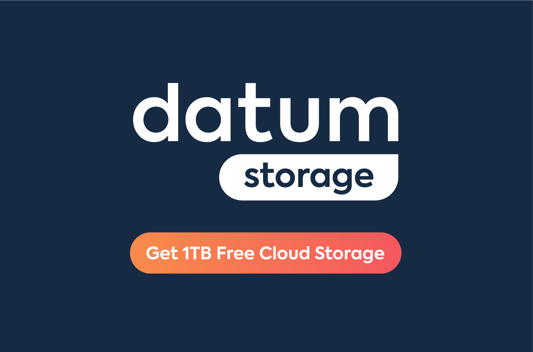 Announcing Datum Storage: Sign up today to get 1TB free