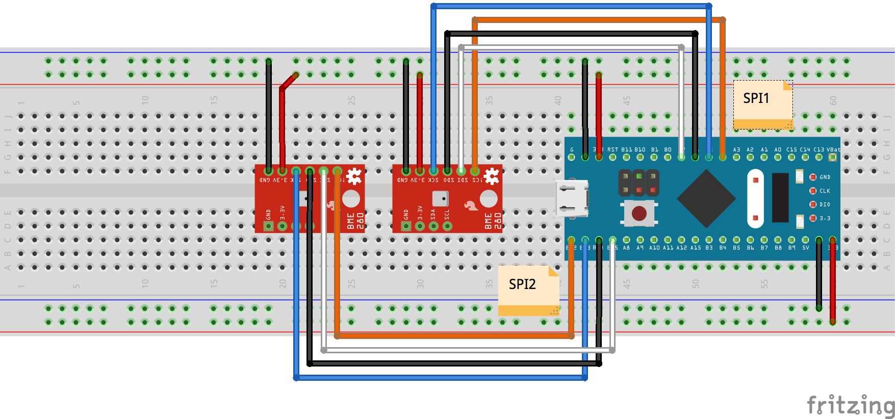 Watch STM32 Blue Pill Juggle Two SPI Sensors With DMA