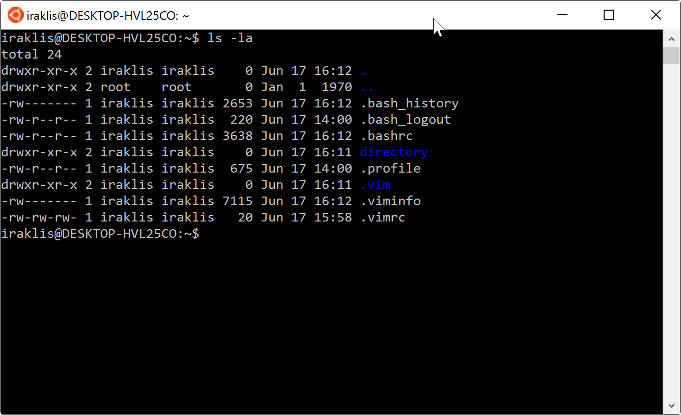 Fixing dark blue colors on Windows 10 Ubuntu bash - Iraklis