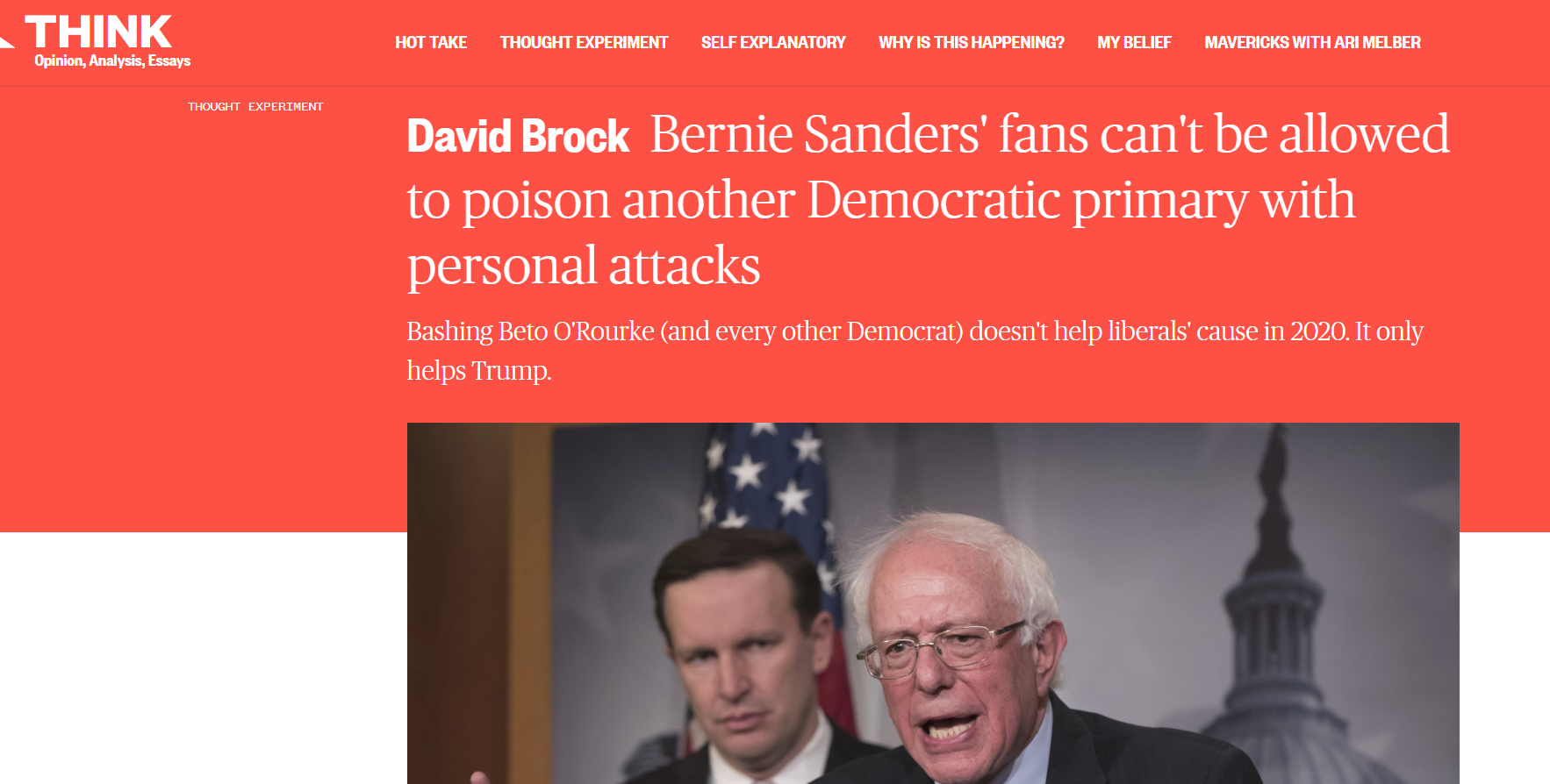 """Liberals and Right-Wingers Launch """"Bernie Smear Fest"""" 2019"""