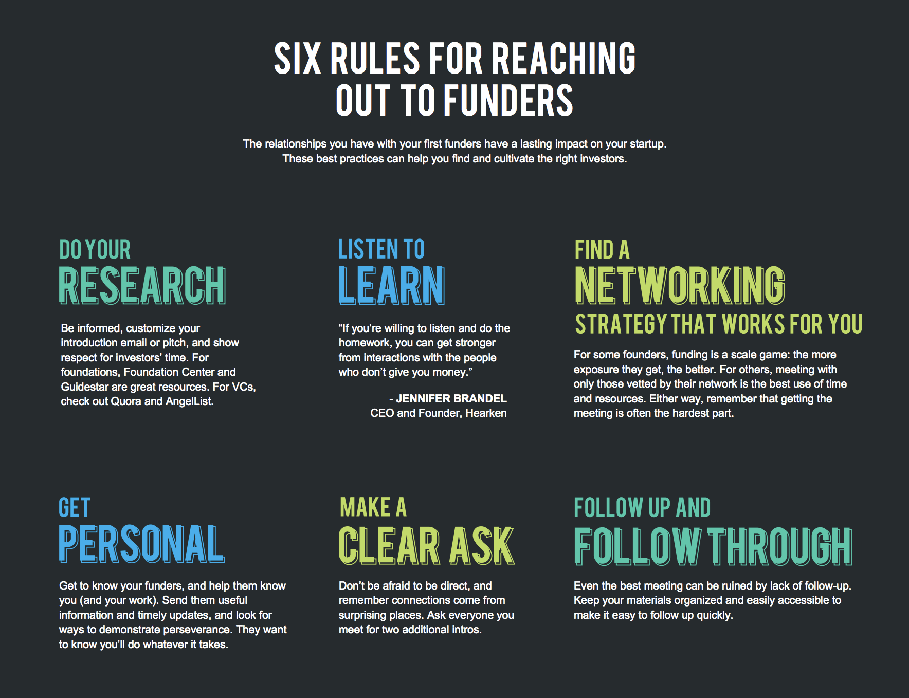 Six Rules for Reaching Out to Funders - New Media Ventures