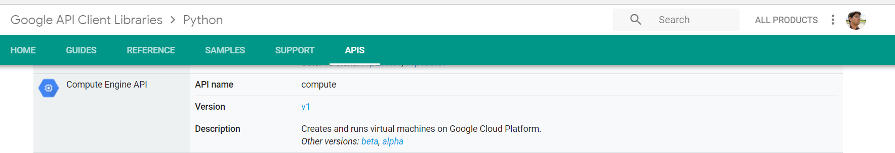 Using gcloud and Python Client Library with Google Compute