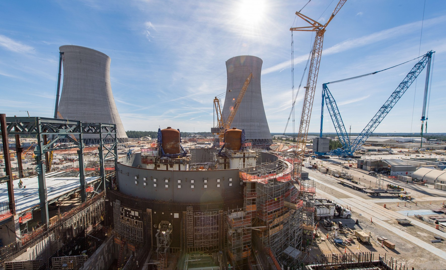 Image of behind schedule, over budget Vogtle nuclear plant
