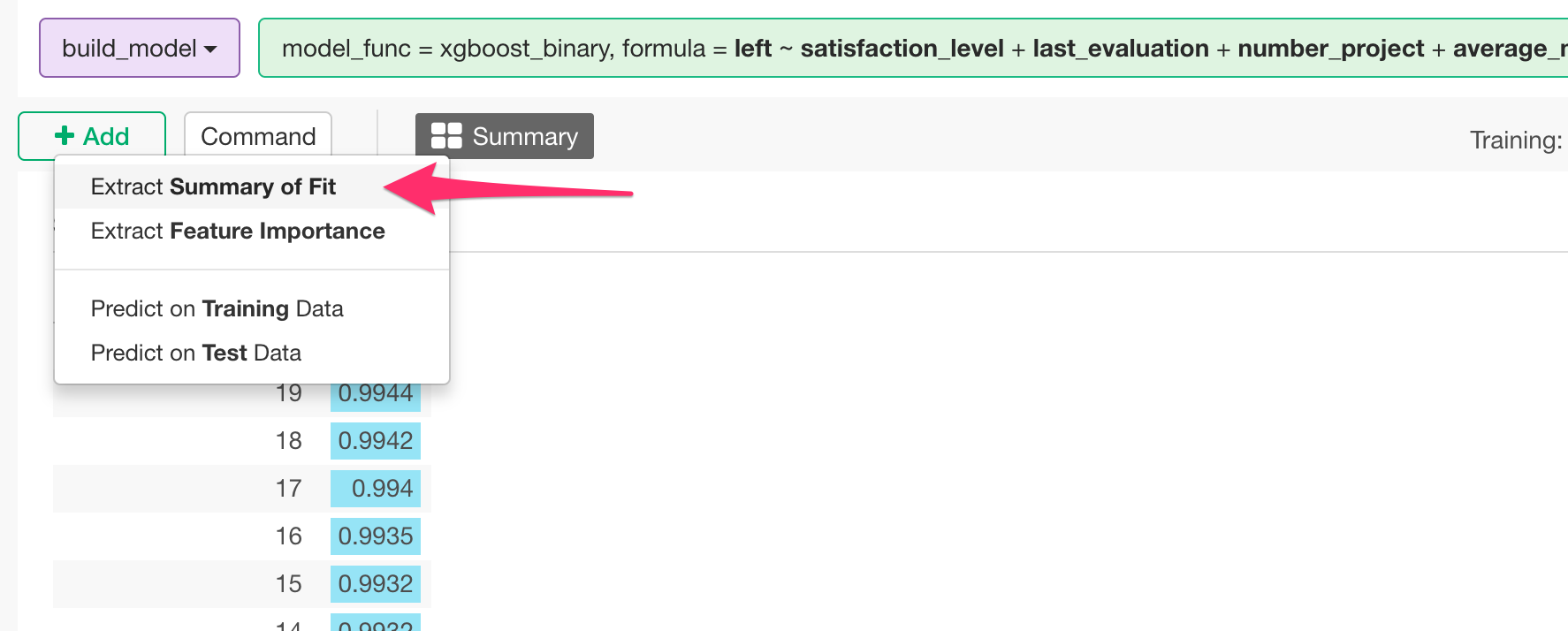 Introduction to Extreme Gradient Boosting in Exploratory