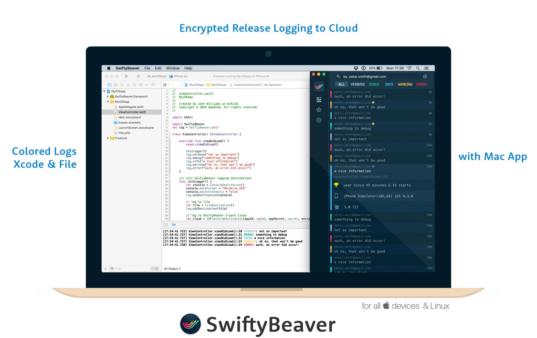 Discovering & using OSLog output console with SwiftyBeaver