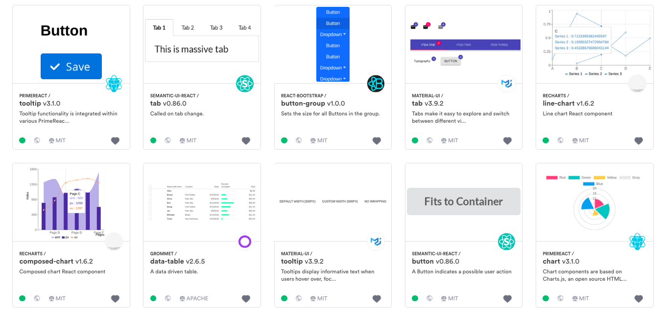 12 React UI Layout Grid Components and Libraries for 2019