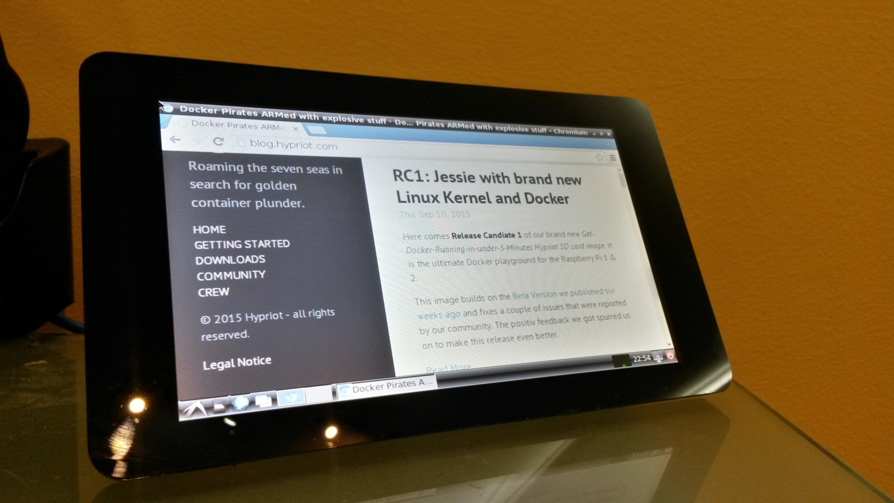 Jessie on Raspberry PI 2 with Docker and Chromium - Icebob - Medium