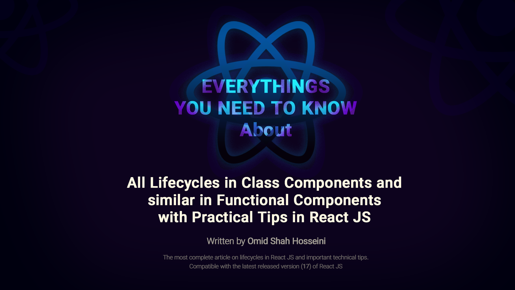 all lifecycle methods in class components and functional components in react js