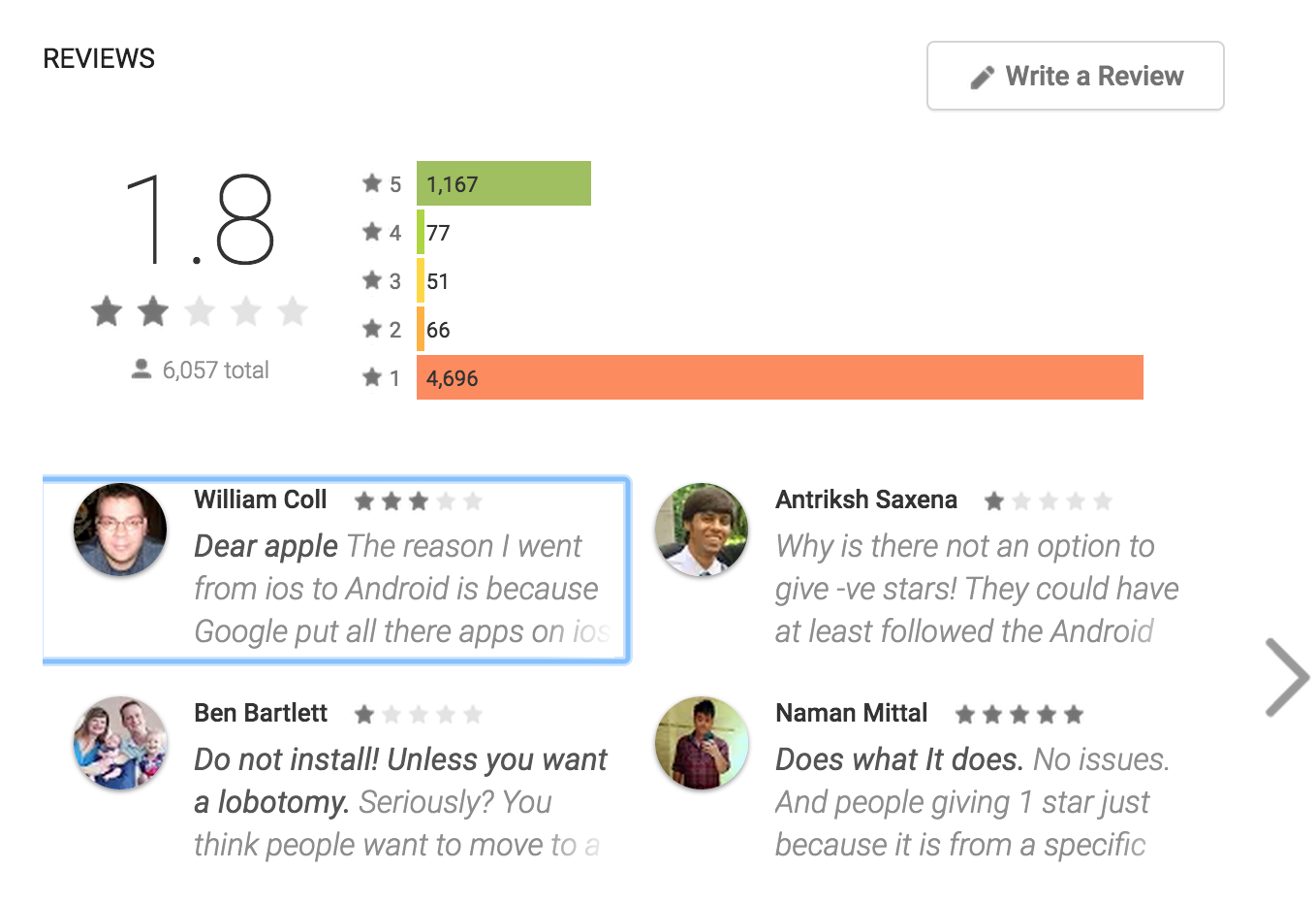 Apple's first(lame) Android App - AndroidPub