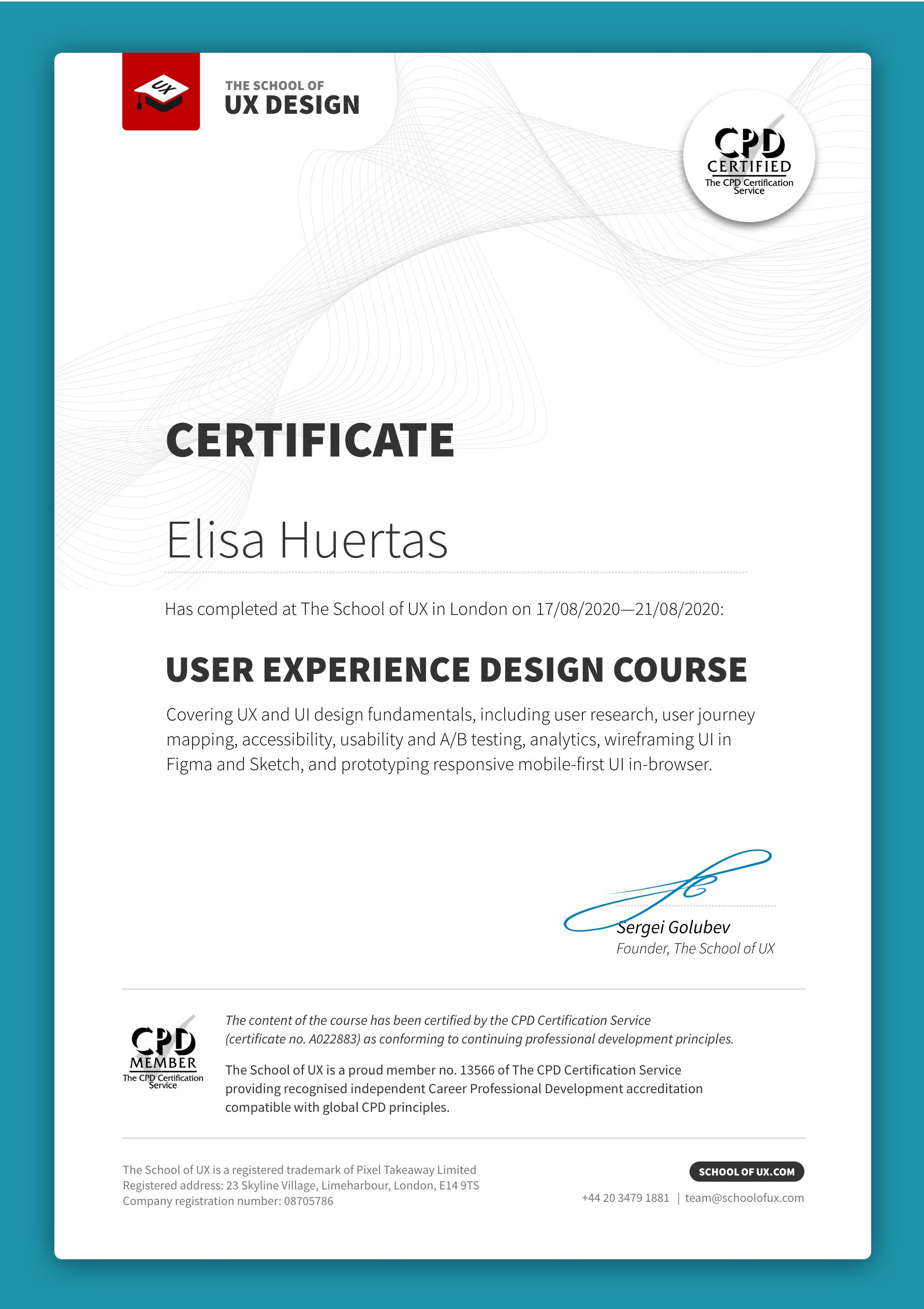 Certified Ux Design Courses I Am Excited To Share That The 5 Day By Sergei Golubev Aug 2020 Medium