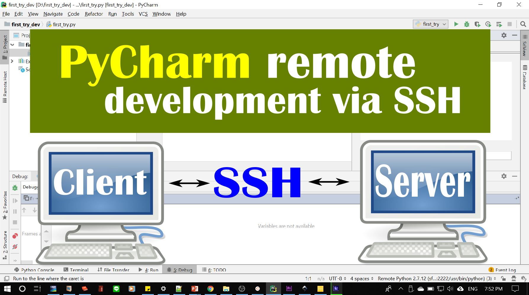 Python PyCharm Remote Development via SSH - Ardian Umam - Medium