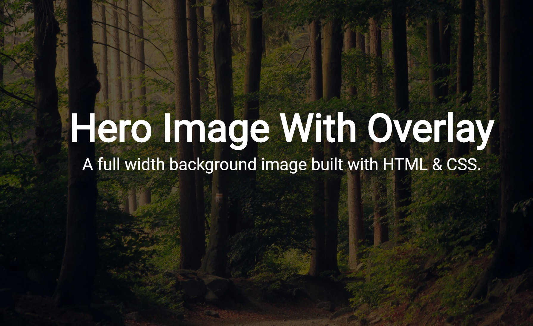 Code A Full Width Hero Background Image With Transparent Overlay By Daniel Zuzevich Medium