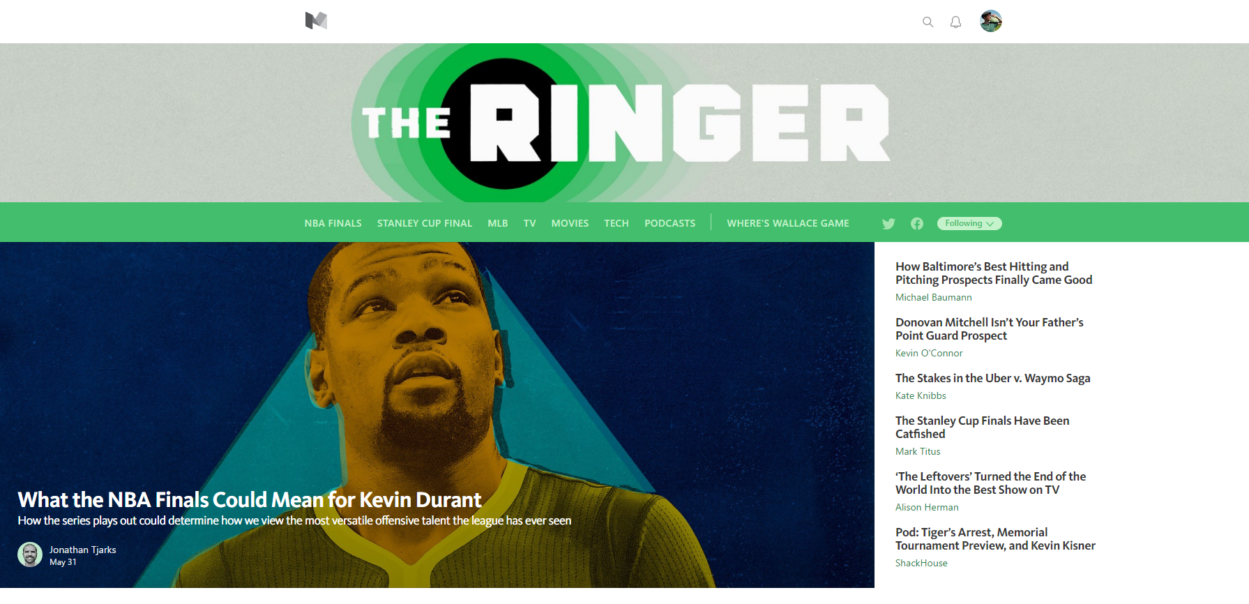 The Ringer Leaves Medium Partners With Vox Media