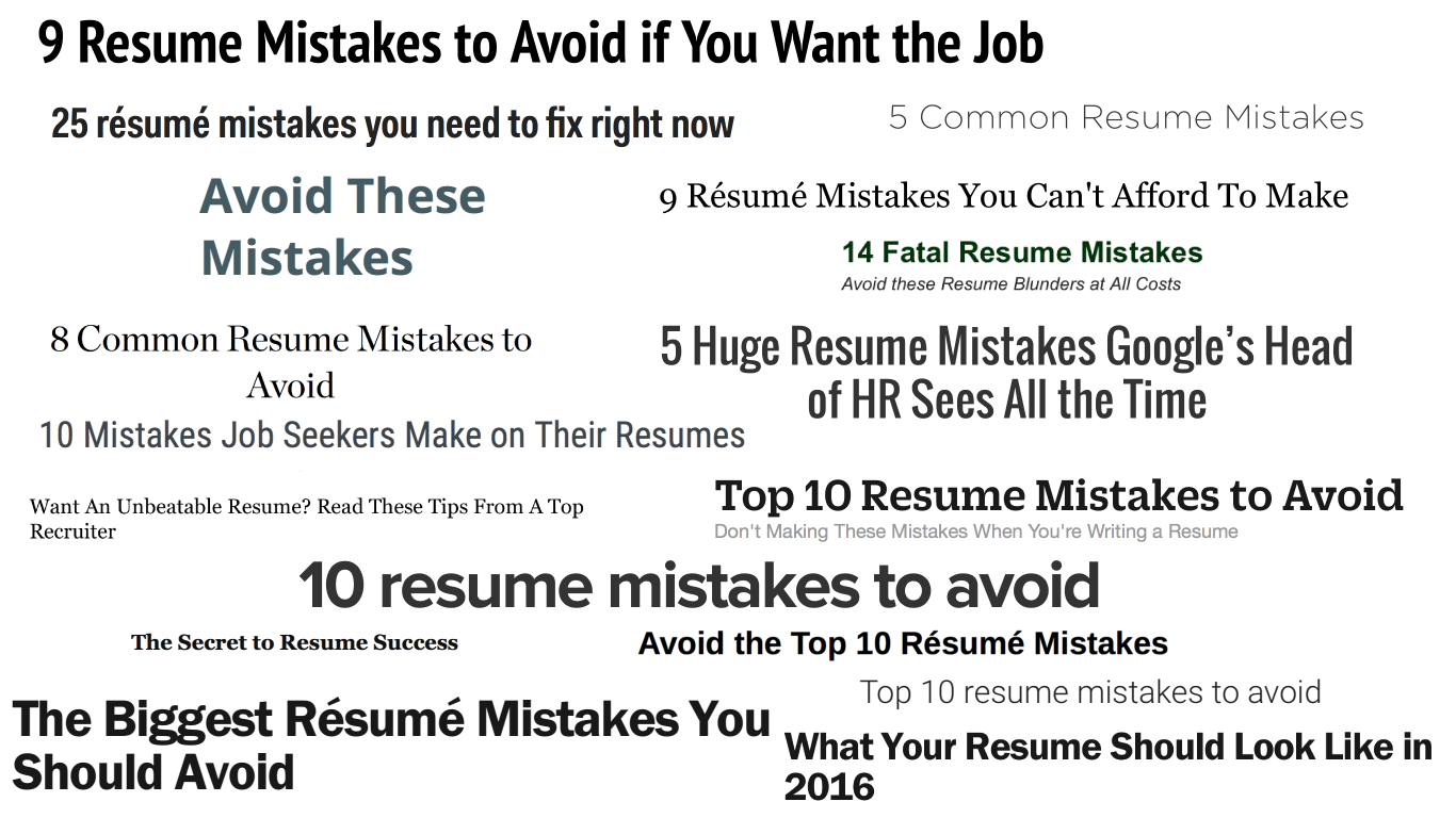 468 Resume Mistakes You Are Making Right Now Valerie Jane