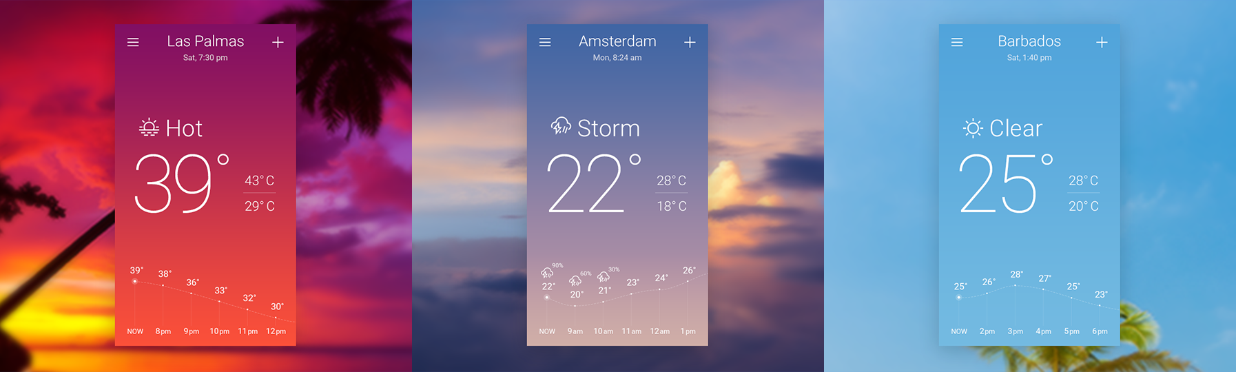 Sky-inspired Weather App Concept. The Secret of Great Gradient | by Anna  Grenn | UX Planet