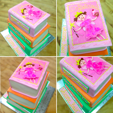 baby shower book cakes