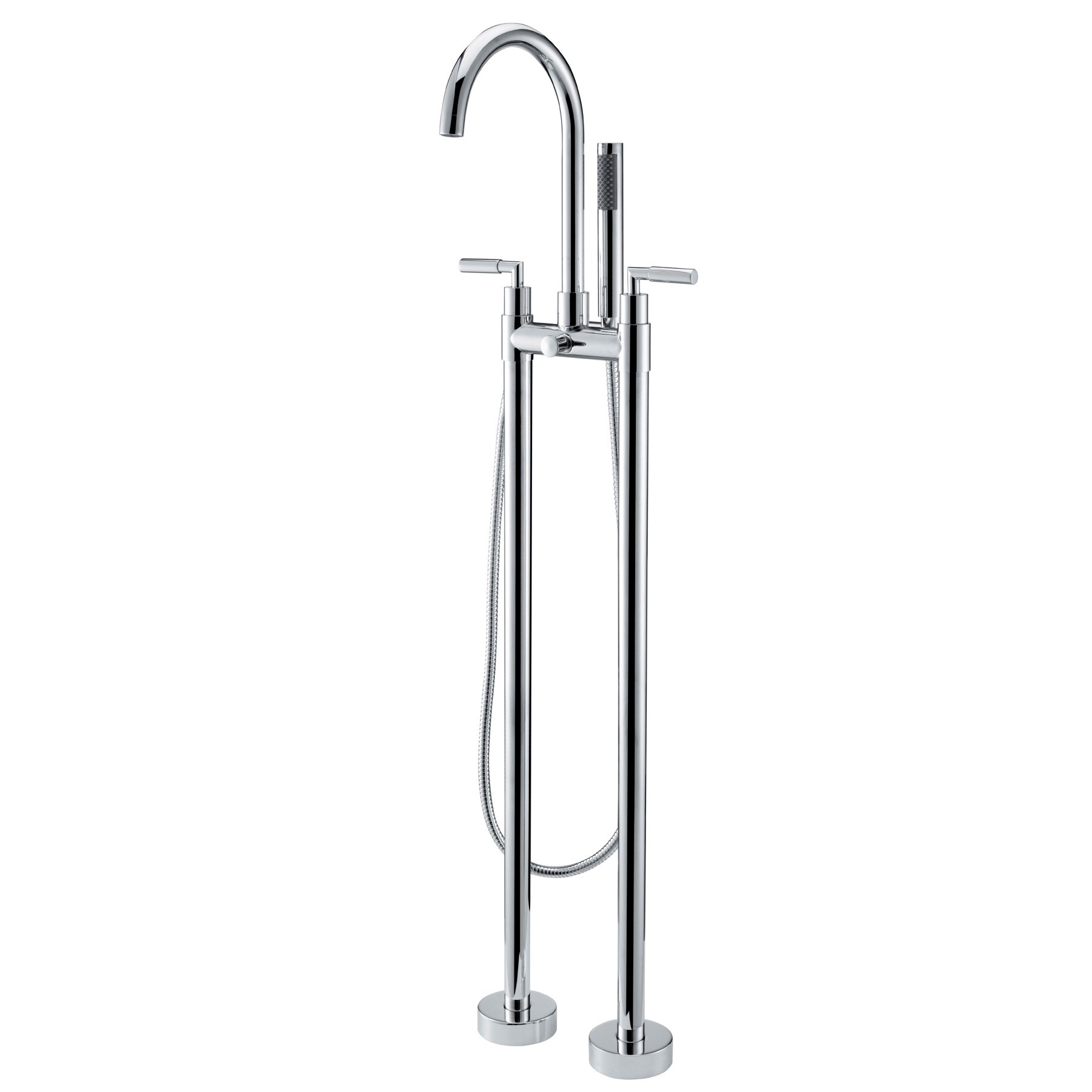 Best Stev Floor Mounted Clawfoot Tub Filler Faucet For