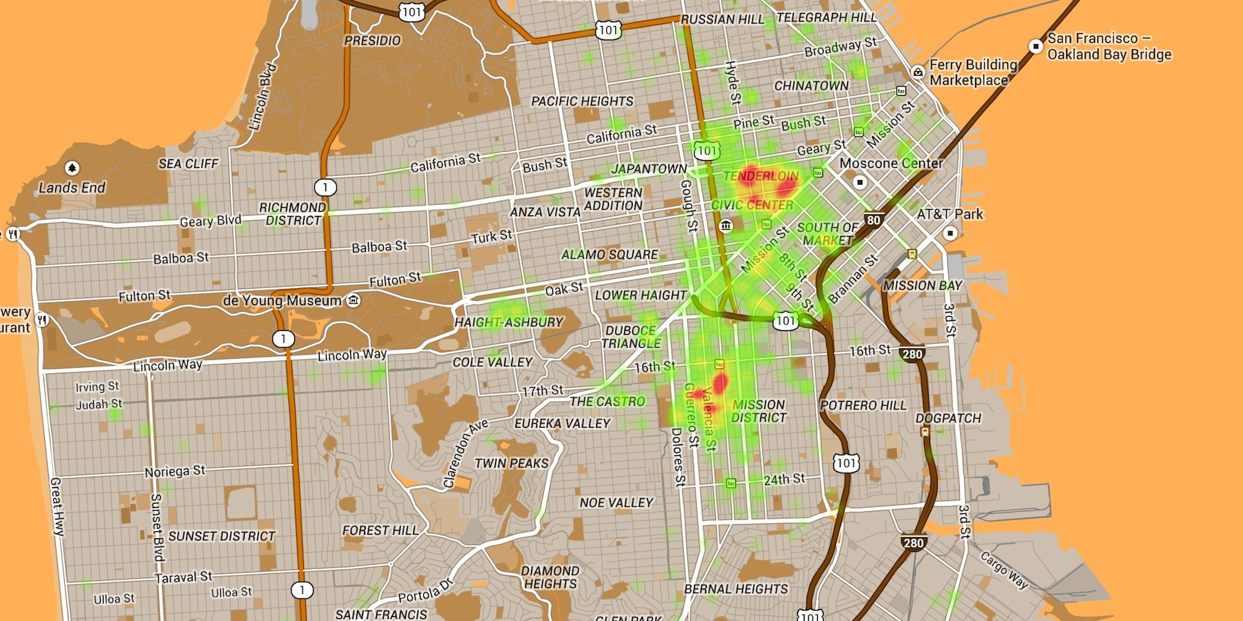 New Map Improves Upon Popular Poop Map Of Sf The Bold Italic
