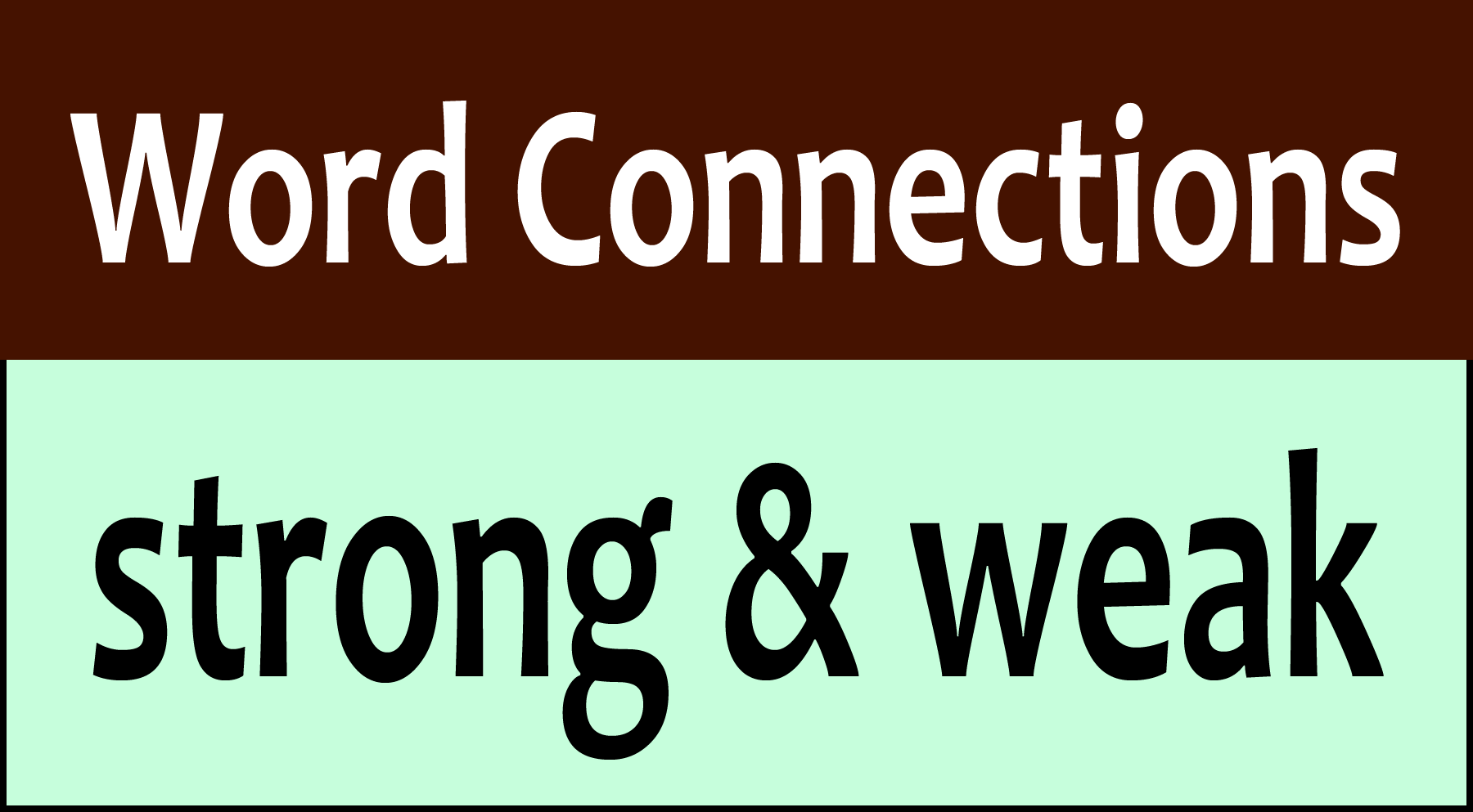 Word Connections: Strong & Weak - The Philipendium - Medium